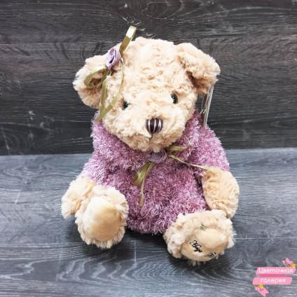 Медвежонок в розовом платье
