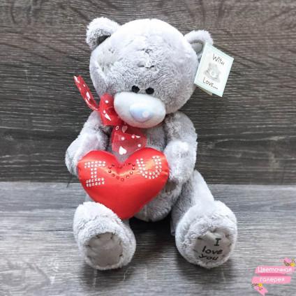 Мишка Teddy с сердцем и бантиком