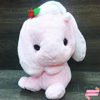 Зайка розовый «С колпачком»
